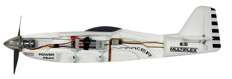 #1-00519 Multiplex FunRacer RR White Edition