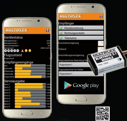 Logiciel MULTIPLEX WINGSTABI ANDROID